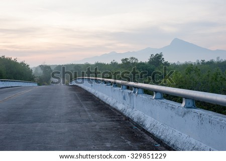 Blurred road - stock photo