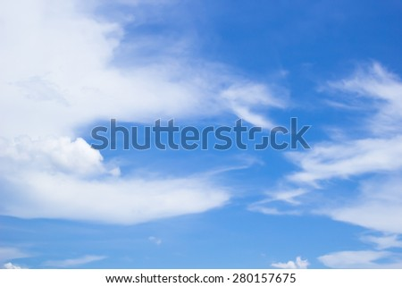 blurred soft focused of clouds on blue sky backgrounds, soft focused concept.