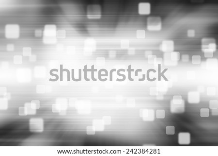 Blurred Squares bokeh on gray abstract background - stock photo