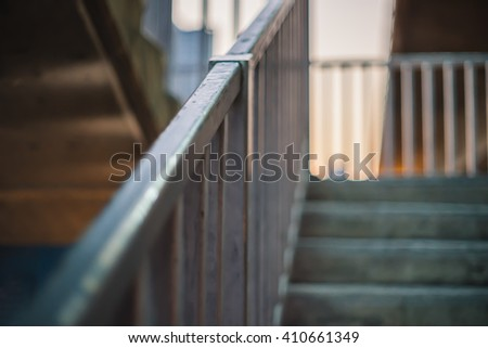 Blurred staircase