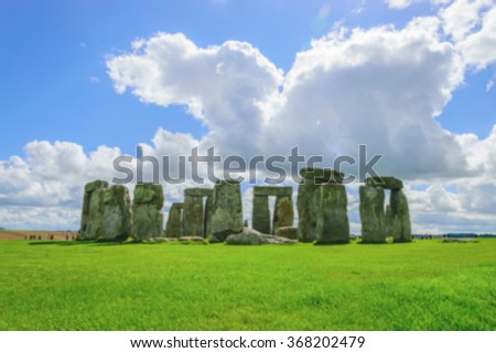 Blurred Stonehenge, Wiltshire, UK.
