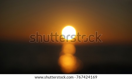 Blurred sunset background