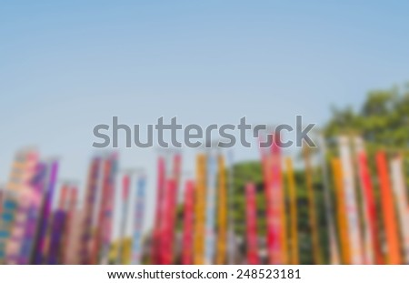blurred traditional decoration background - stock photo