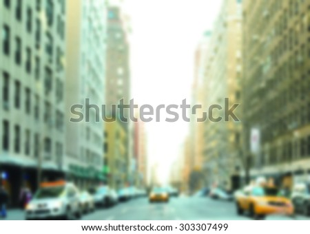blurred view of new york city for background  - stock photo