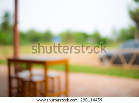 Blurred wood table. - stock photo