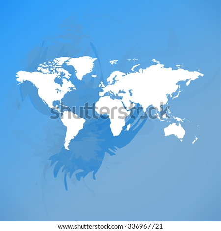 Blurred World Map background. Raster version.
