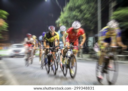 blurry Asian Cycling Championship during the race for background