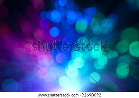 Blurry background with optical fibers - stock photo