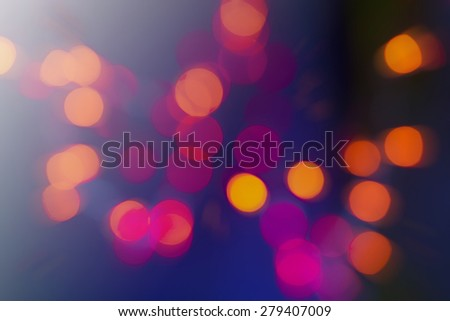 blurry bokeh special magic effect. Glitter Abstract Festive background - stock photo