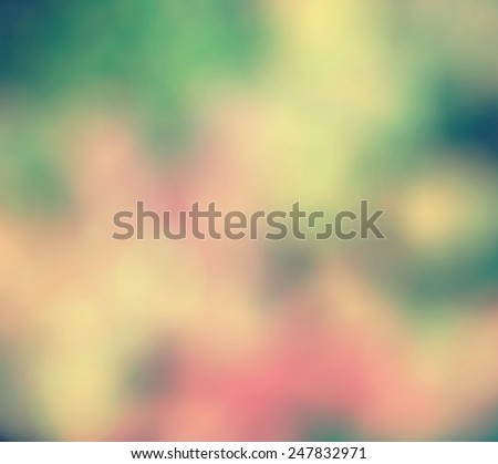Blurry bouquet of tulips and multicolor flowers. - stock photo