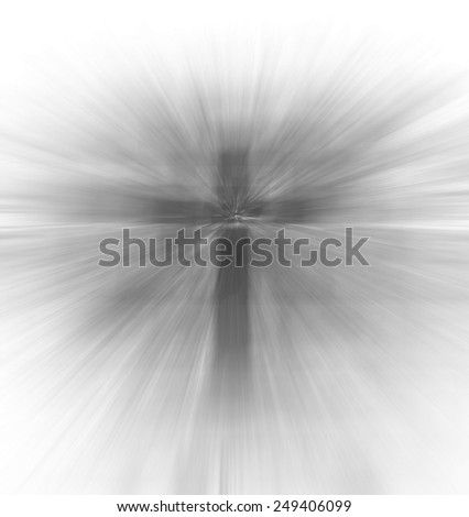 blurry Christian religious cross,gray color tone - stock photo