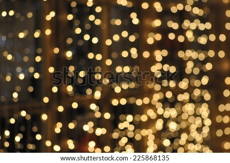 Blurry christmas lights abstract background - stock photo