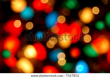 blurry christmas lights background