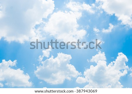 blurry clouds on sky background