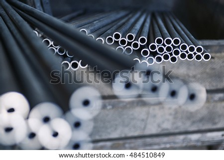 blurry detail of iron bars and metal set