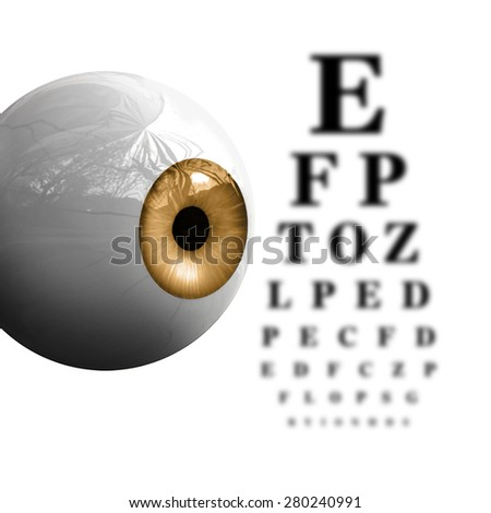 Blurry Eye Chart - stock photo
