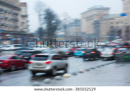 blurry focus scene of cars on road represent transportation concept related idea