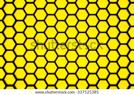Blurry hexagonal geometry pattern, abstract for background - stock photo