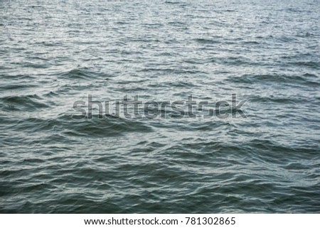 blurry images on the sea. the scenery is in the middle of the ocean. sea waves
