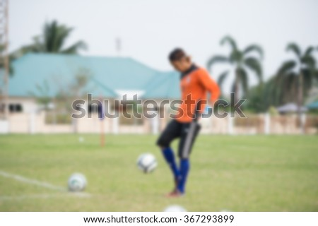 blurry,motion blur,Goalkeeper in action playing football,(soccer) - stock photo