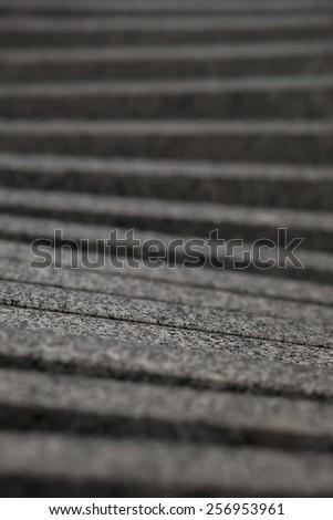 Blurry steps - stock photo