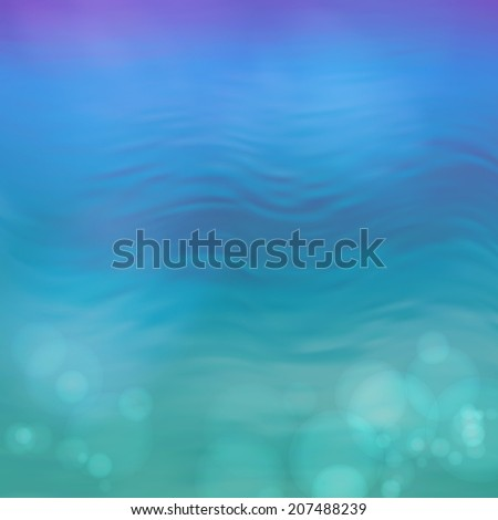 Blurry water ripple blue background with abstract smooth lines - stock photo