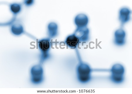 Blury background of molecules. Blured with lens and not photoshop for a more natural bokeh. - stock photo
