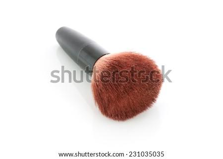 Blush brush isolated on white background - stock photo