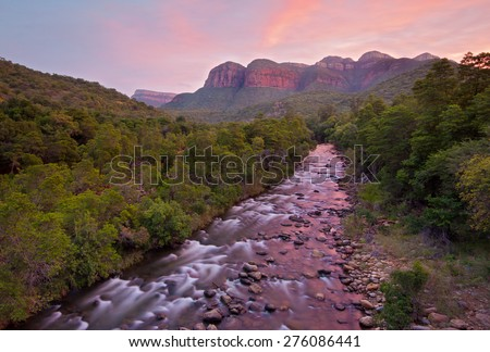 Blyde River Canyon South Africa, River Landscape - stock photo