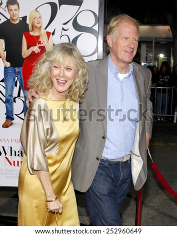 "Blythe Danner and Ed Begley Jr. at the Los Angeles Premiere of ""What's Your Number?"" held at the Regency Village Theater in Westwood, California, United States on September 19, 2011."
