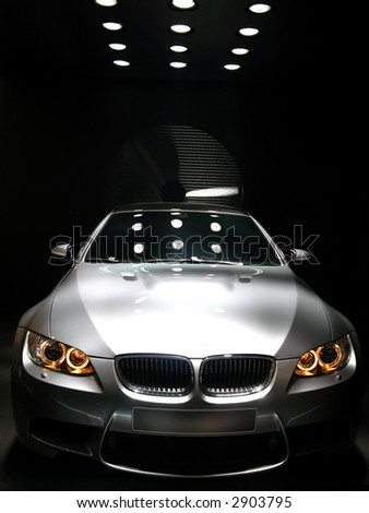 BMW M3 concept car at Geneva Auto-Show 2007 - stock photo