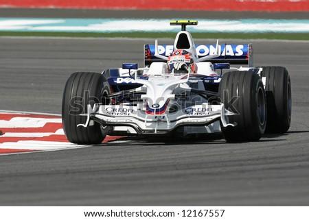 BMW Sauber's Polish F1 driver Robert Kubica - stock photo