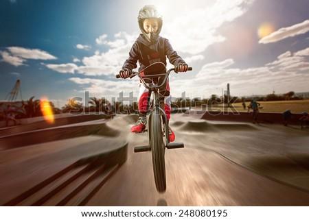 BMX - stock photo