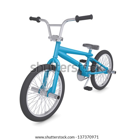 BMX bike. Isolated render on a white background