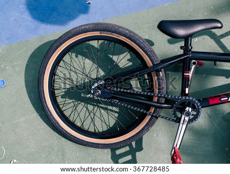 BMX bike on the floor