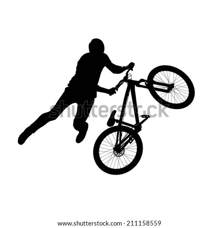 bmx contest sport extreme competition illustration isolated in white - stock photo