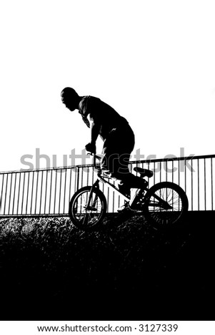 BMX DRAWING - stock photo