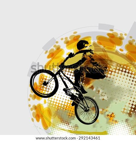 BMX rider. Sport illustration - stock photo