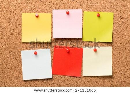 Board, cork, post. - stock photo