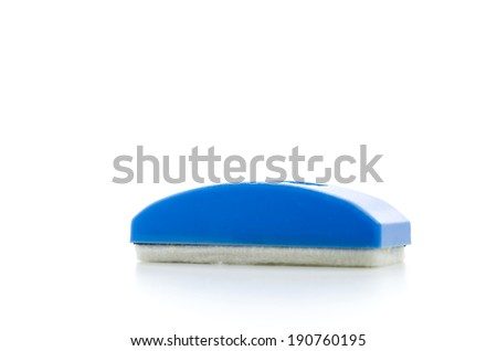 Board eraser isolated on white - stock photo