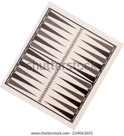Board for a game of backgammon on white - stock photo