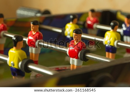 board game of football for adults and children - stock photo