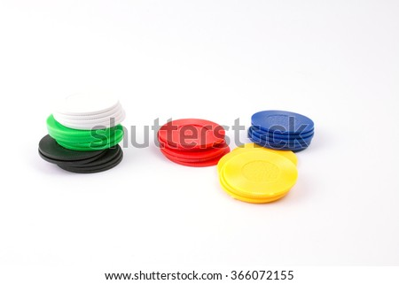 Board Game Play Figures. - stock photo