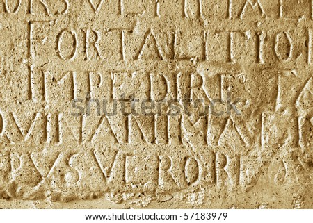 Board made of stone, dating from Roman Empire - stock photo