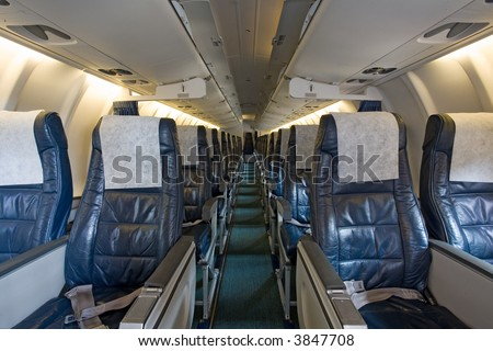 board of the airplane - stock photo