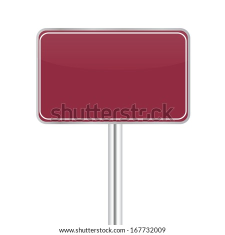 Board sign on white background. Raster copy