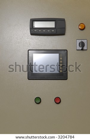 board with two buttons and touch screen