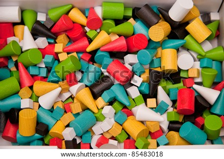 Boardgame components background - stock photo