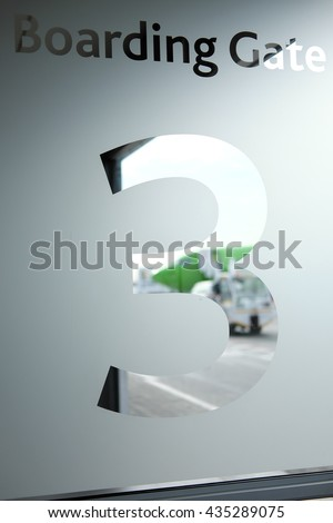 Boarding Gate at Airport - stock photo