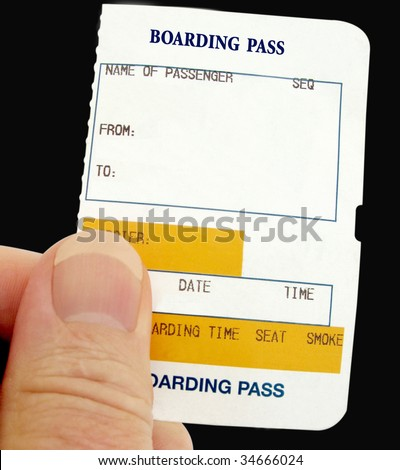 Boarding Pass for any form of transport - stock photo